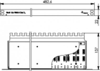 """( J00060A0072 ) Panel łączeniowy 19"""" 12xVM 8-8 kat.7 - ekranowany"""