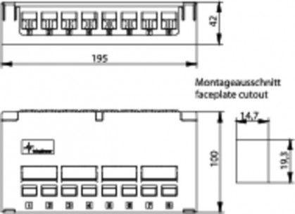 ( H02000A0080 ) Obudowa panelu krosowego desktop na 8 modułów Keystone