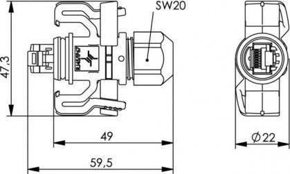 ( J00026A0150 ) Wtyk RJ-45 kat. 6A STX V6 - ochrona IP67