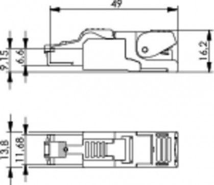 ( J00026A2001 ) Wtyk RJ-45 kat. 6A ekran MFP8 STX