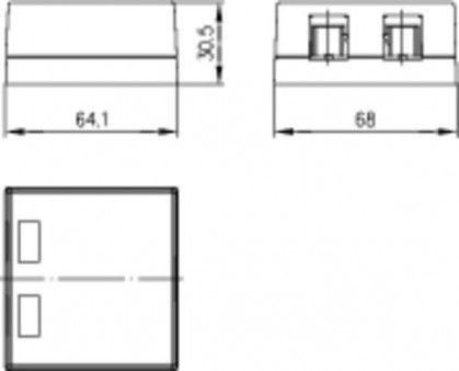 ( H02000A0065 ) Gniazdo natynkowe 2x RJ45 keystone
