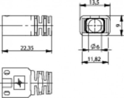( B00081A0031 ) Osłona wtyku RJ-45