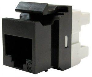 ( KSJ-00033-04 ) Gniazdo RJ-45 UTP PowerCat kat.6 - czarne