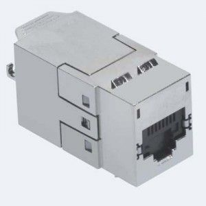 ( KSJ-00062-04 ) Gniazdo RJ-45 FTP kat.6A DataGate+ PowerCat - czarne