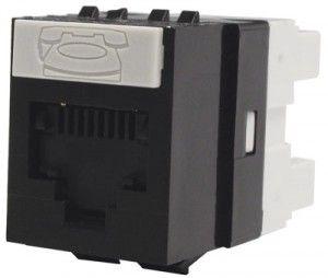 ( KSJ-00024-04 ) Gniazdo RJ-45 UTP kat.5e DataGate+ PowerCat - czarny