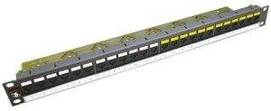 "( PID-00141 ) Patch panel 19"" UTP 24 x RJ45 kat.6"