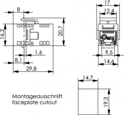 ( J00029A0064 ) Łącznik / beczka F-F nieekranowane kat.6