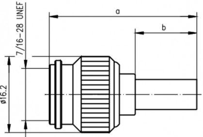 ( J01010A0035 ) TNC wtyczka prosta zaciskana G30/G54