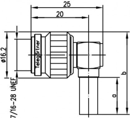 ( J01010A0037 ) TNC wtyczka kątowa zaciskana G30/G54