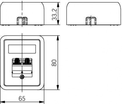 ( J00023A0176 ) Gniazdo natynkowe zespolone 2xRJ45 kat.5e